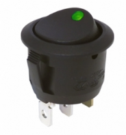 Circular Rocker switch <br>built in LED <br>ON/OFF<br>24/12v <BR> ALT/R13-112B2G24-25